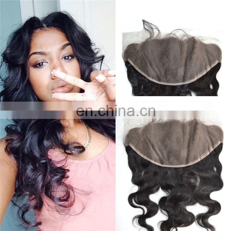 13x6 Virgin Chinese Remy Human Hair Lace Frontal Closure Ear to Ear Free Part Lace Frontals Body Wave with Baby Hair Free Ship
