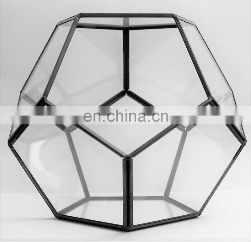 Tabletop Irregular Prism Glass Geometric Terrarium