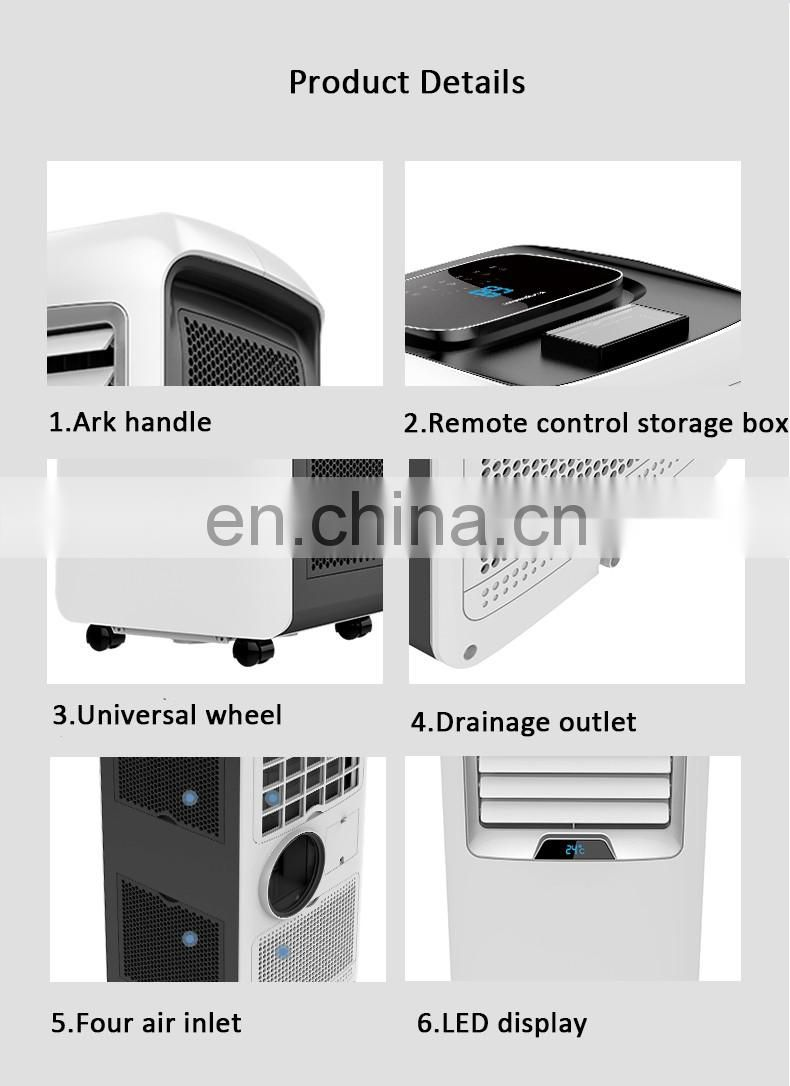 Auto Swing 12000 BTU Portable Air Conditioner with Dehumidifier Temperatura Display