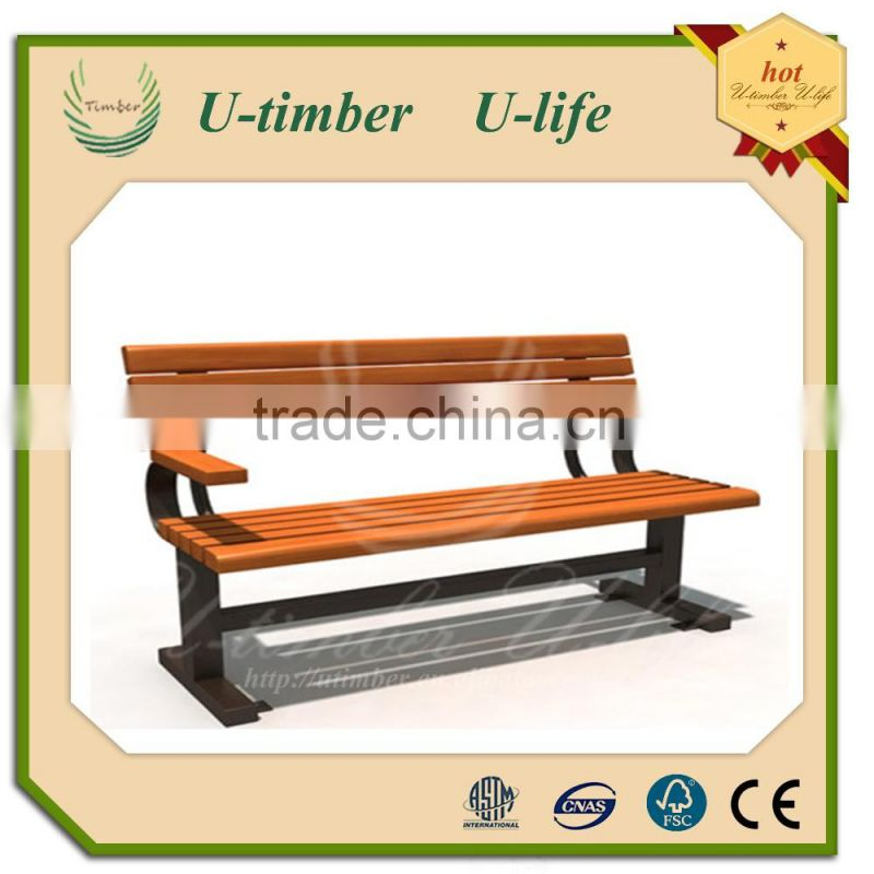 hospitality supplies wholesale outdoor furniture wpc composite bench modern long chair for rest station park leisure