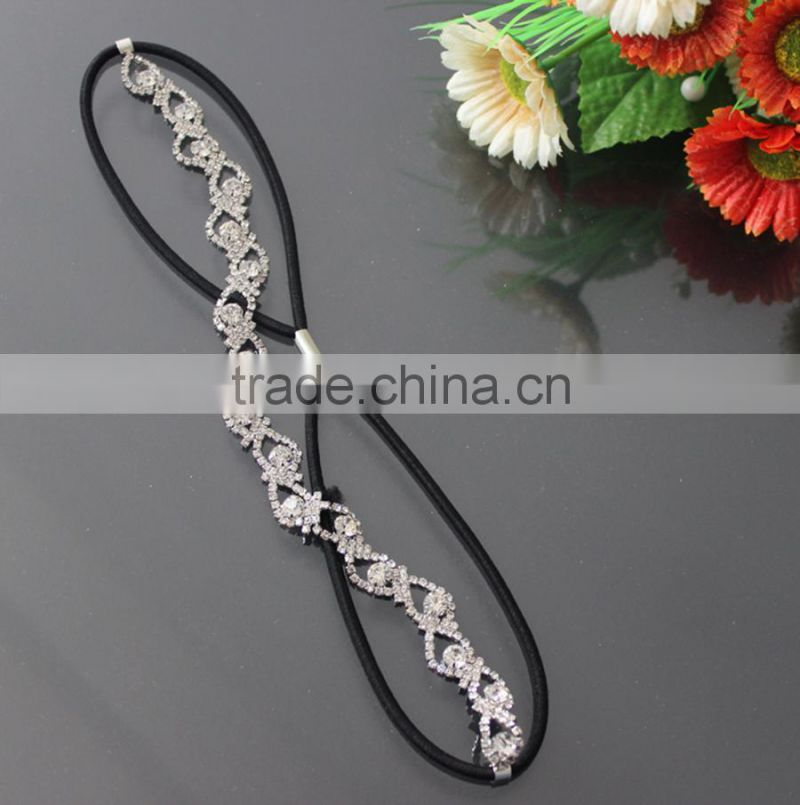 Hair Accessory, Tear Drop Elastic Hair Band, Fashion Stretch Crystal Head Band Jewelry Hair Ornament SF1037