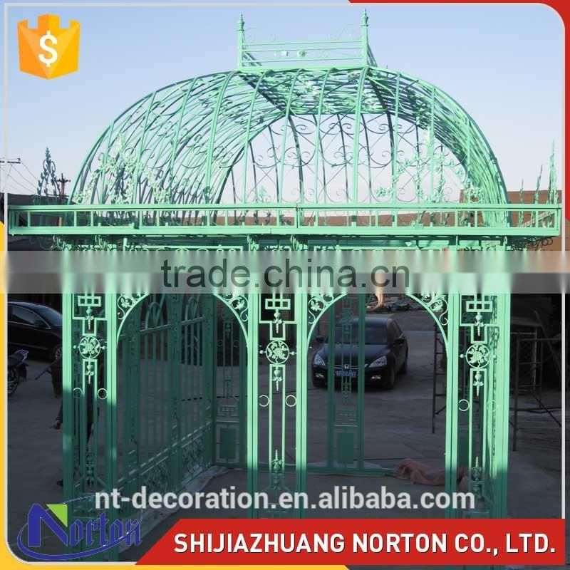 Norton factory new design green outdoor cast iron gazebos NTIG-008Y