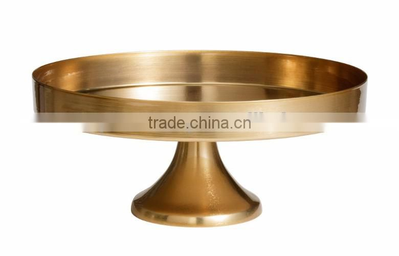 golden hammered metal aluminium cake stand