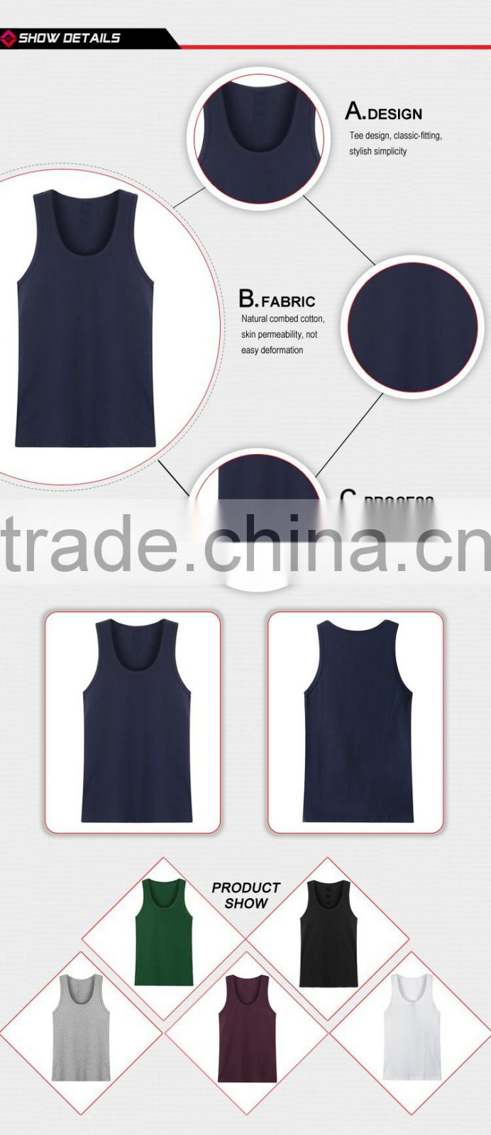 d42cba0e603d6 Wholesale low price high quality men s open side tank top of Tank ...