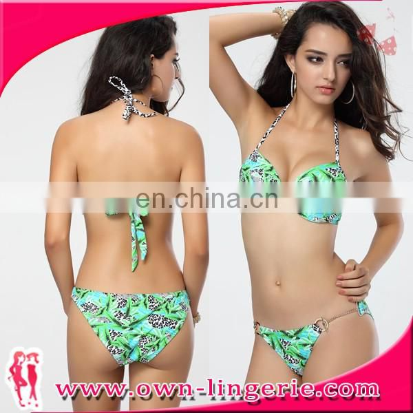 woman sexy Brazilian bikini,hot flower printed harness beachwear bikini