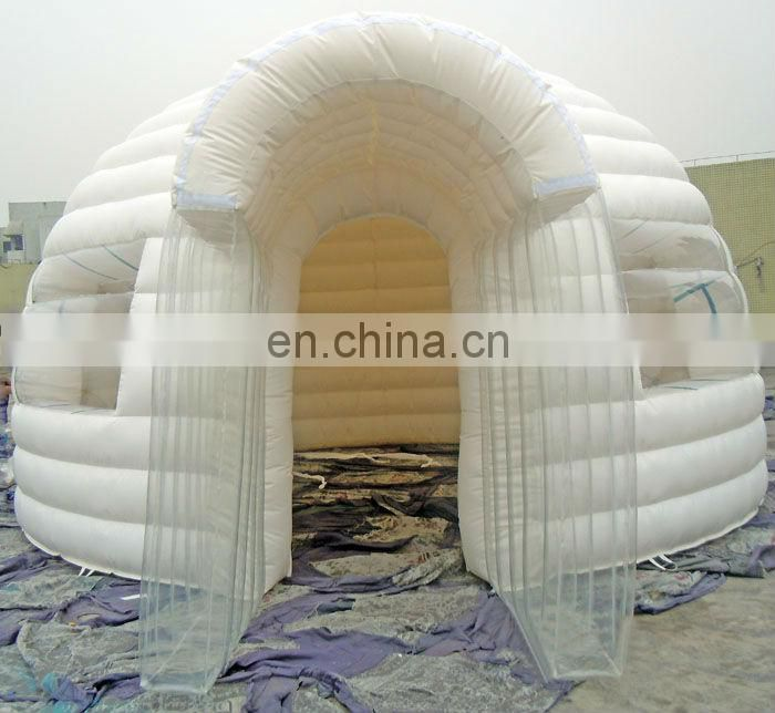 Green & White Inflatable Dome Tent