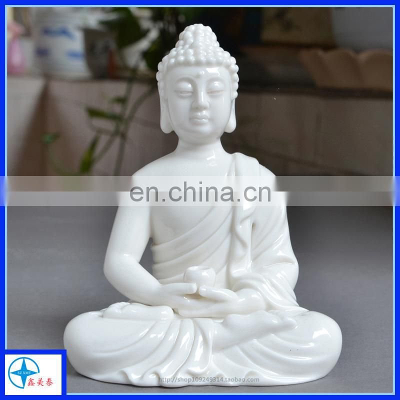 Resin White Budda statue for Religious,Sitting Budda Figure for decoration