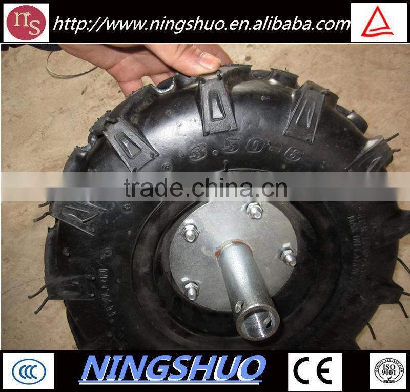 China factory of 3.50-4 small rubber lawnmower pneumatic wheel