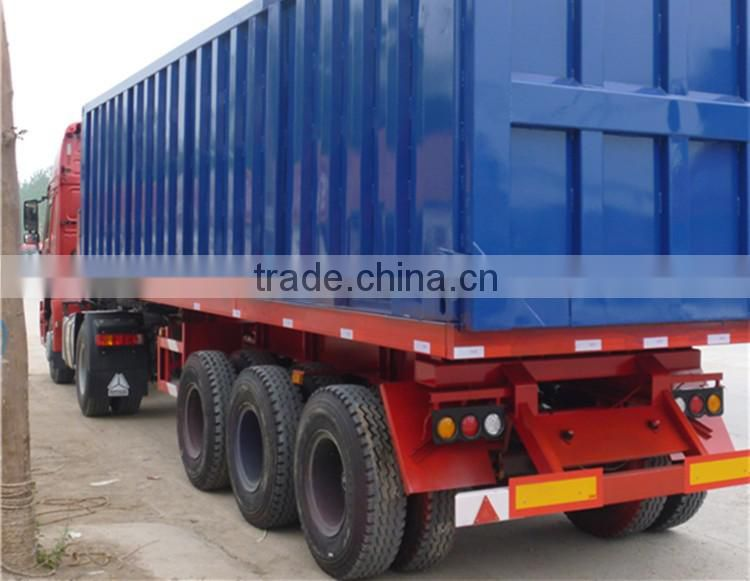 278882e827 ... Hot Sale 50ton 3 Axles Steel Box Container Van Semi Trailer Semi Trailer  ...