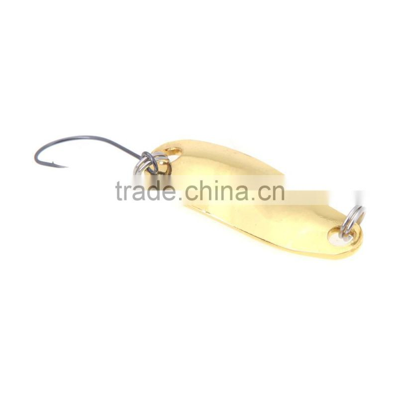 2.8cm/2.5g Fishing Spoon Lure Sequin Paillette Metal Hard Bait Hook Tackle Gold