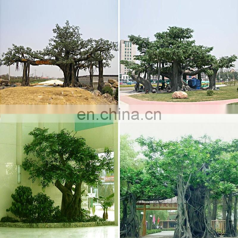 Big Artificial Banyan Tree as Park Gate