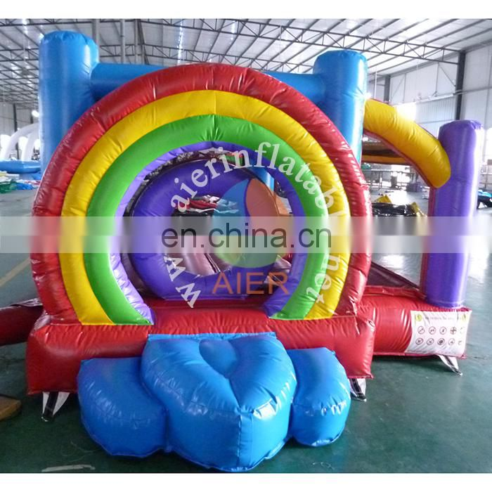 2017 new inflatable bouncer rainbow castle kid play tent happy hop bouncy castle inflatable for sale