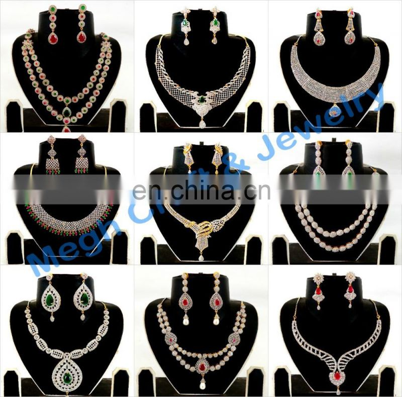 Pearl Bridal Neckalce set-Vintage Style Women Party Wear Gold Plated Collar Necklace set-Wholesale collar Jewelry for Gift