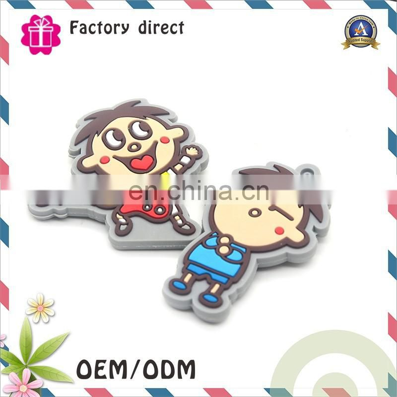 58mm colourful tinplate cartoon pattern keychain for gift