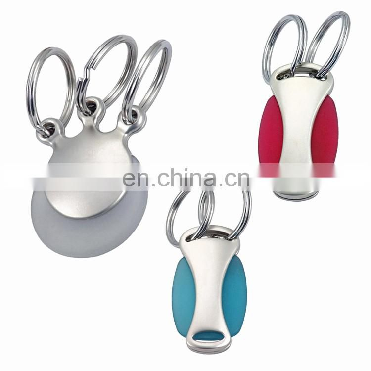 Metal multi rings keyring three ring quick release zinc alloy keychain