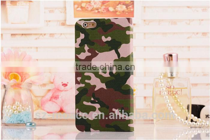 Camouflage Pattern view window smartphone case for iphone 6