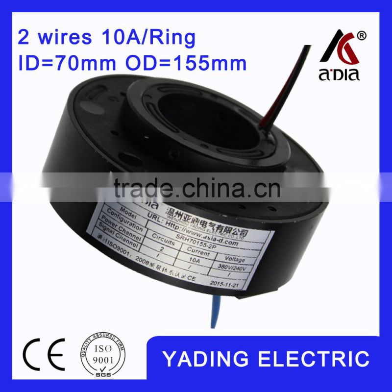 SRH90190 2s rotating ring slip ring ID 90mm. OD190mm. 2Wires, 5A 2 wires