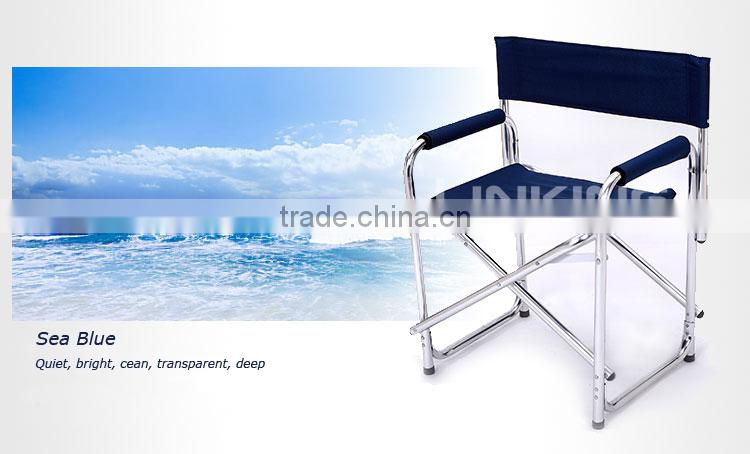 metal frame director chair with plate