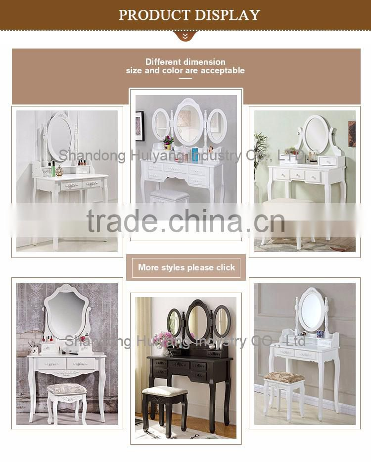 Custom wooden bedroom dressing table with stool