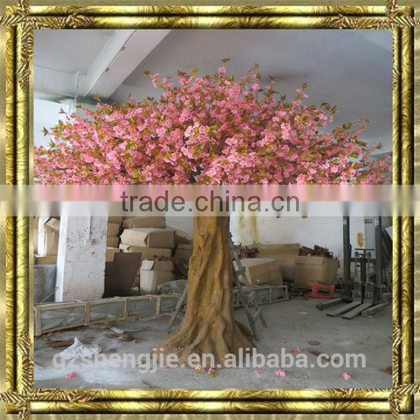 LXY072213 large ornamental flowering tree artificial cherry blossom tree garden decoration plastic tree