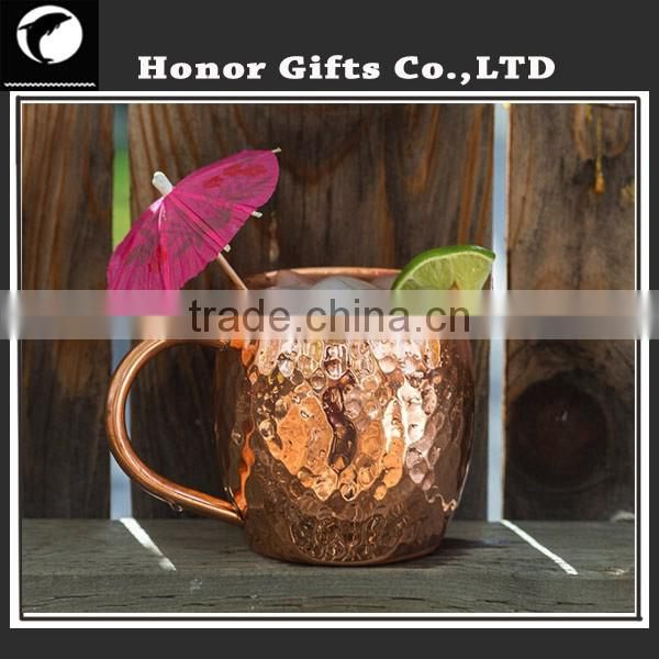 Professinal Munafacturer 100% Solid Pure Copper Moscow Mule Mug