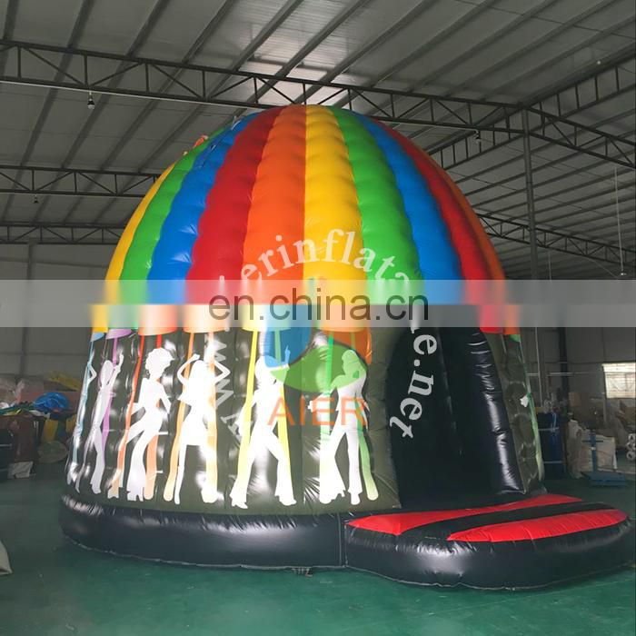 Hot sale air jumping castle inflatable disco bouncy castle commercial castle tent