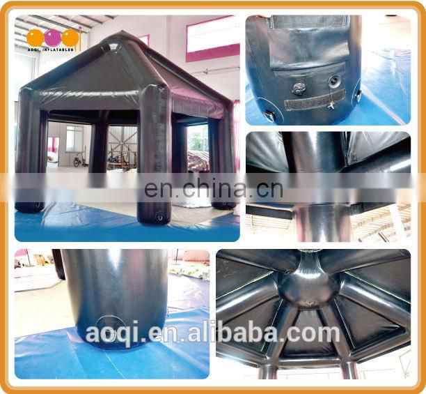 2015 AOQI new style best price durable black inflatable pavilion tent for party