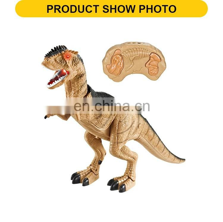 Hot selling infra-red plastic rc dinosaur robot with sound & light