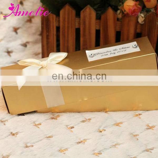 AS003 Yellow Scroll Design Classical Invitation Card
