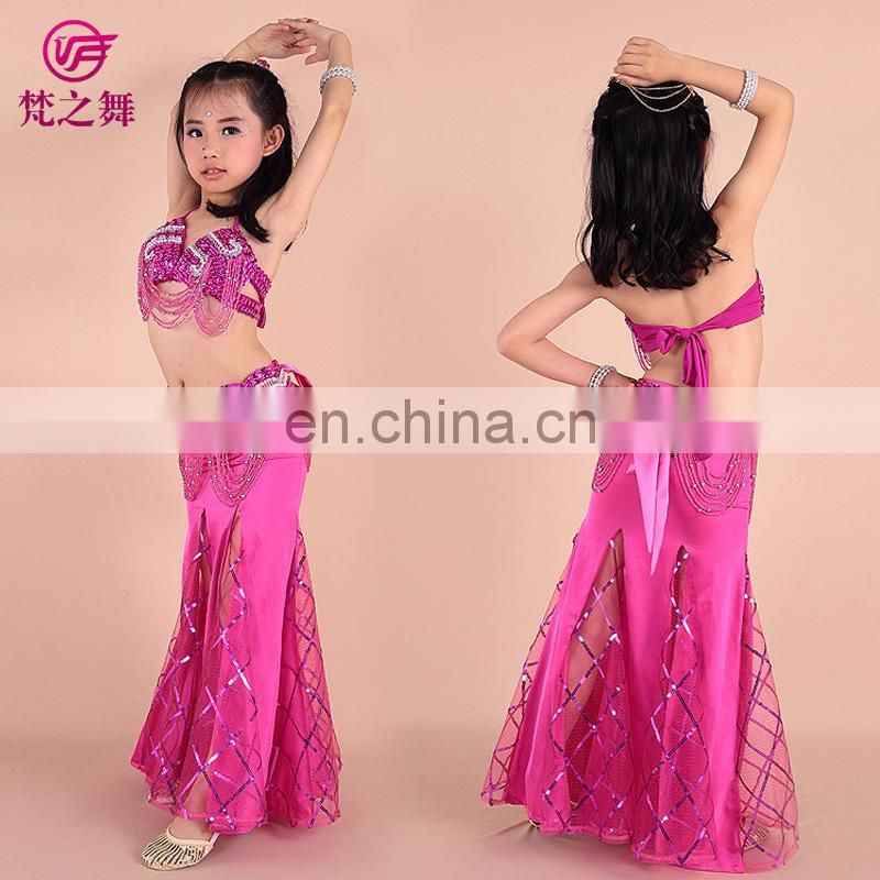 Hot selling Wholesale high-class sexy belly dance wear for kids ET-062