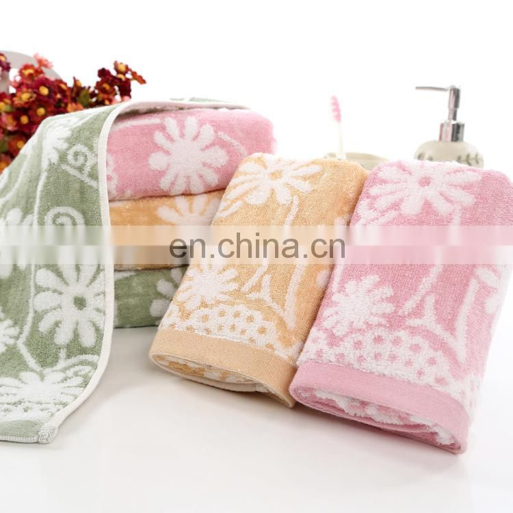 High Quality Excellent Absorption Jacquard Bamboo Face Towel