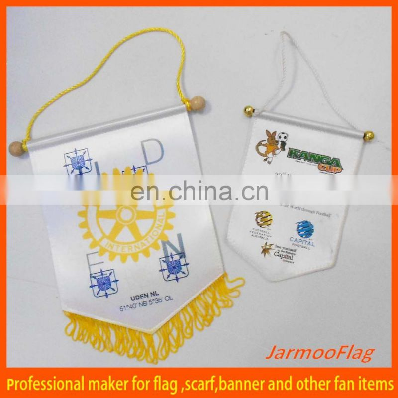 welcomed custom printing felt pennant flag