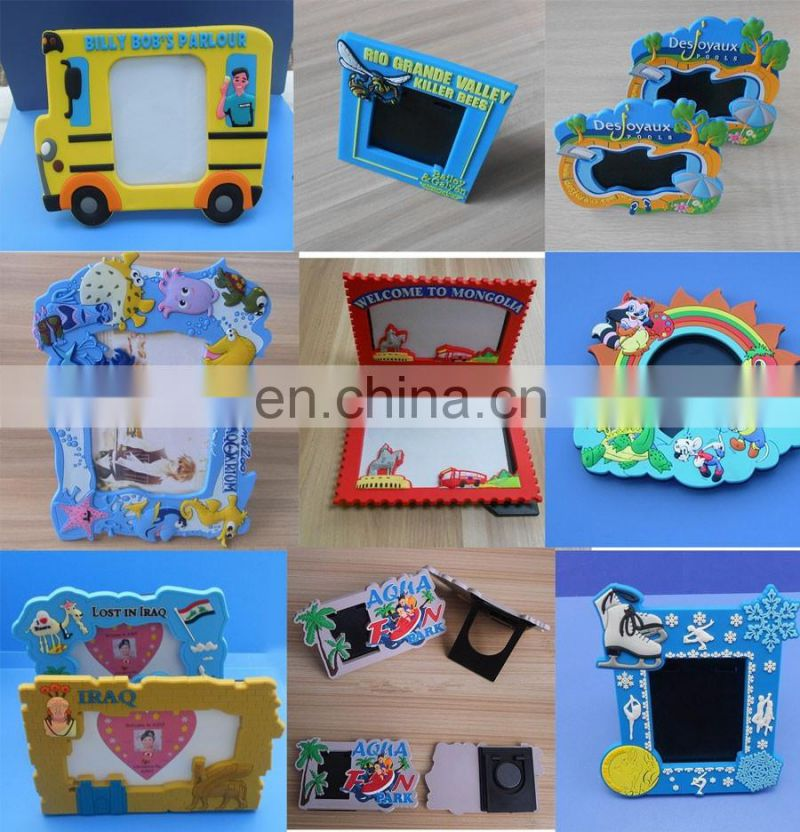 skate souvenir soft rubber photo frame with magnet and stand