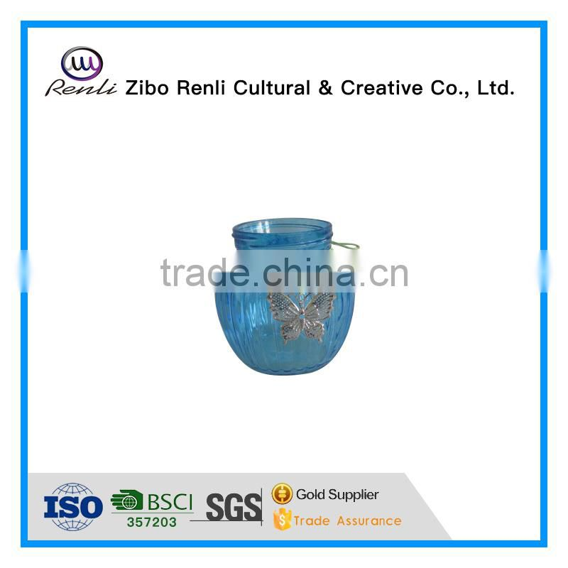 Blue Wholesale Crystal Murano Glass Vases for Table Decoration
