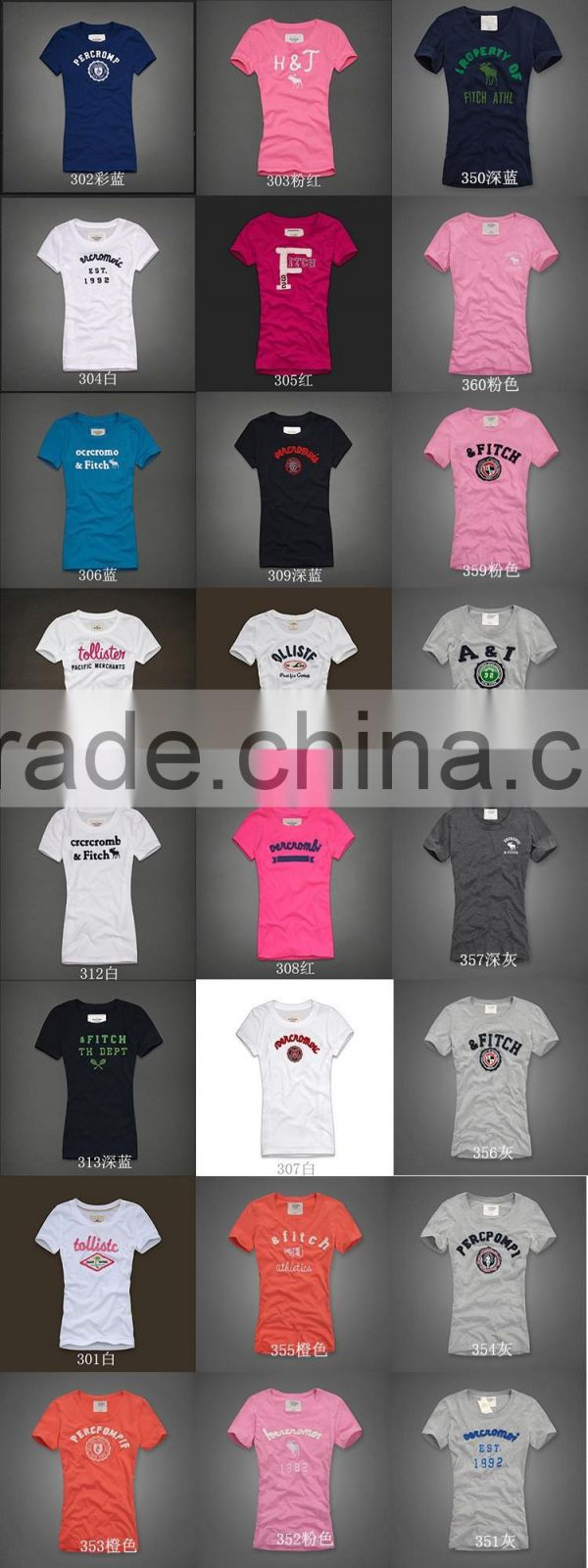 Flocking printing t shirt /women t- shirt OEM / dongguan garment factory