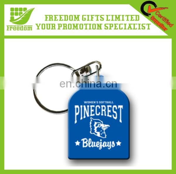 Colorful Simple Design Personalized Silicone Keychain