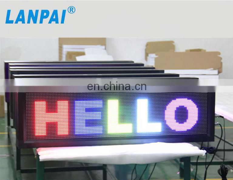 p10 outdoor usage full color programmable led display sign with high quality