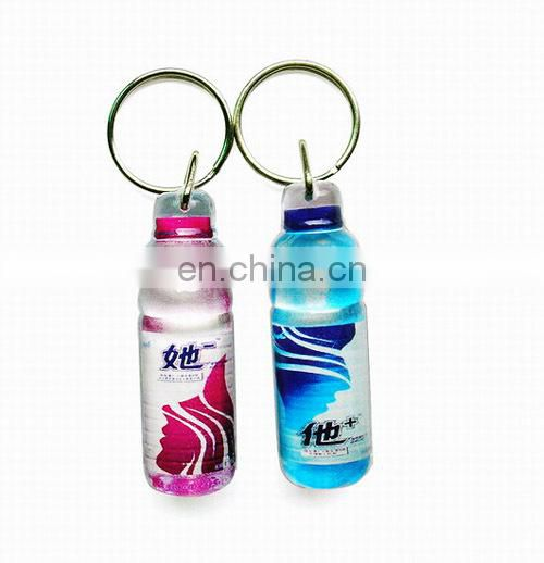 Personalized mini medicine bottle keychain factory