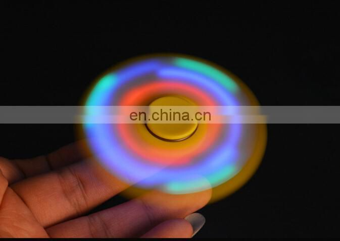 Top selling 608rs tri-spinner glow in the dark led figet spinner for kids