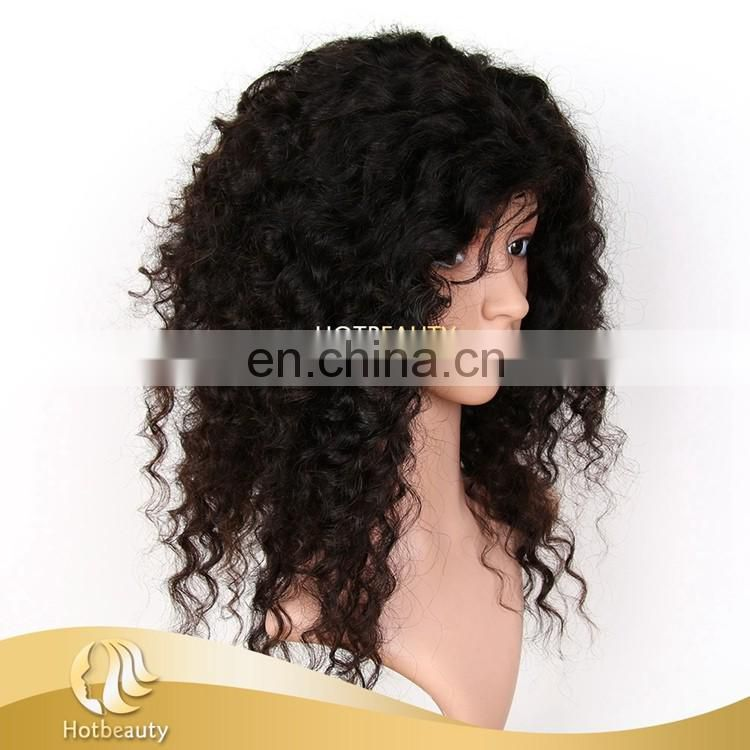 Wholesale Custom Kinky Curly Virgin Human Handmade Wig