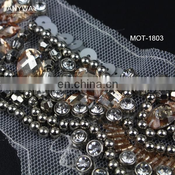 High quality china wholesale beaded neckline for garment accessories