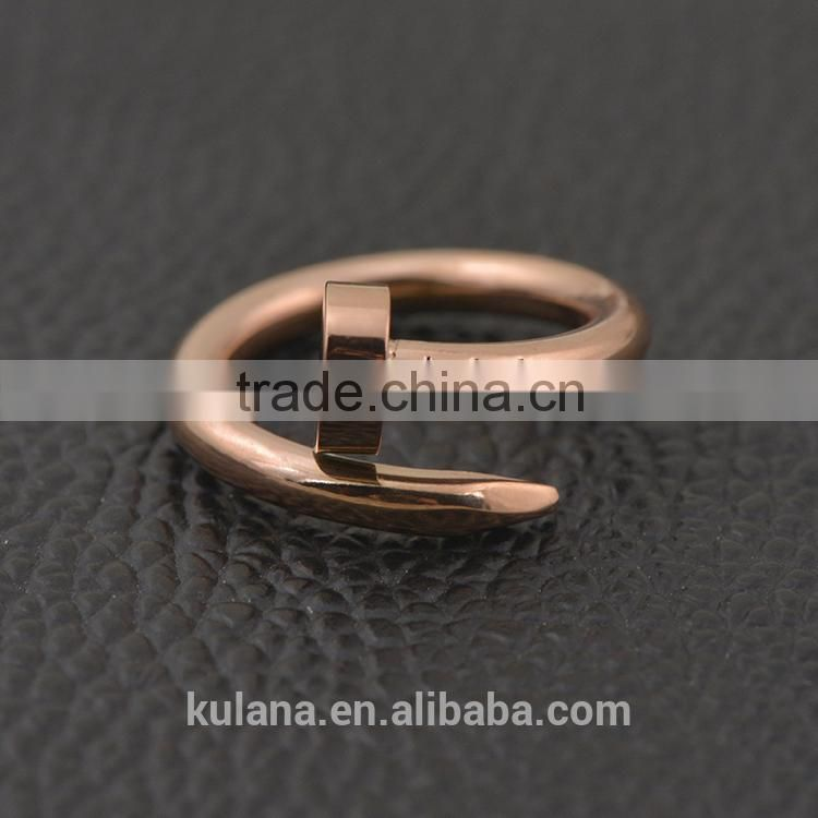 2015 Custom rose gold rings twisted nail rings