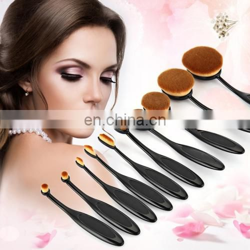 lowest price 10 PCS Toothbrush Style Handle Makeup Brush Eyebrow Brush Set