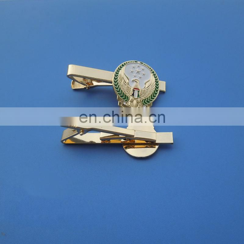 engraved metal insignia company logo business suit tie accessory tie bar clip men