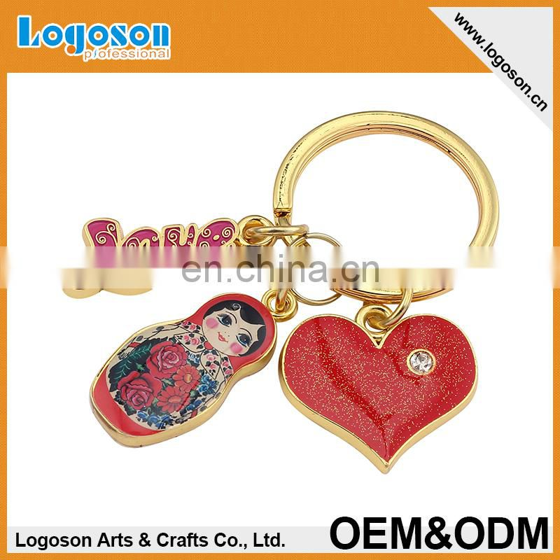 Best Selling High Quality Prague Custom Keychain/Keyring for Christmas Promotion
