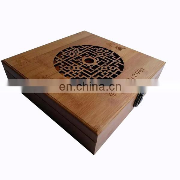 Experienced Manufacturer Natural Bamboo Tea Storage Case
