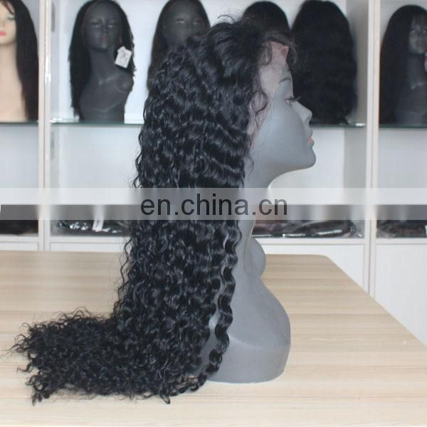 Beautiful human hair wig top quality afro kinky curly lace front wig