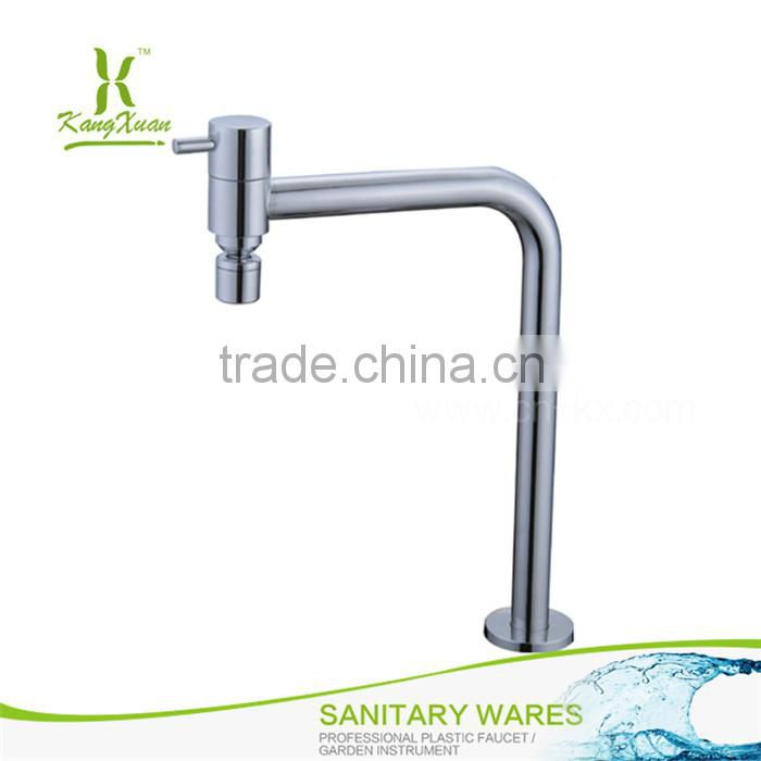 Single handle Chromed abs waterfall hot cold bathroom faucet