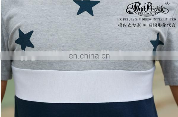 Peijiaxin Latest Design Casual Style with Stars Elongated T shirt