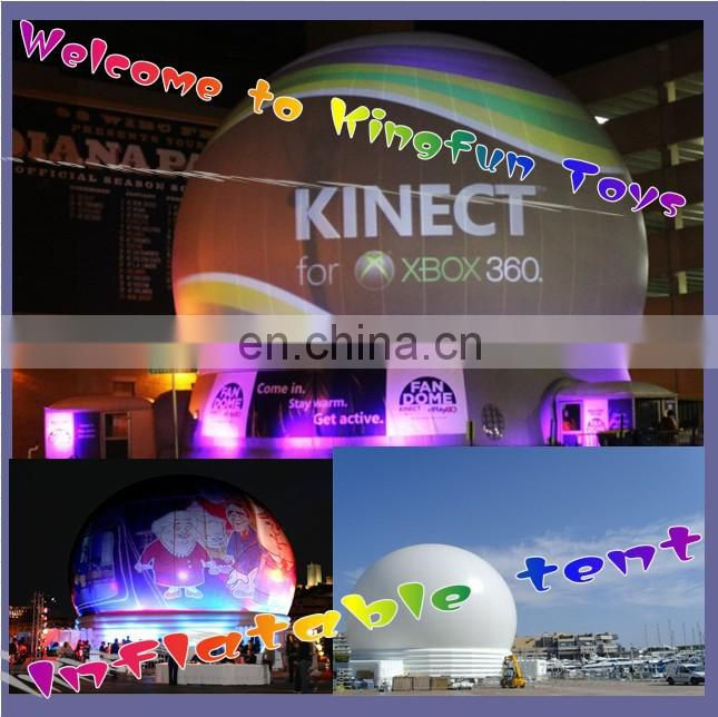 Giant projection inflatable dome tent for show